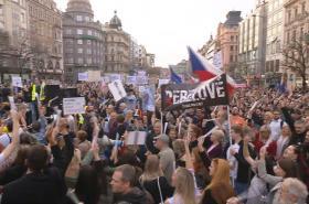 Protest proti Andreji Babišovi v Praze