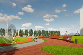 Nový sportovní a volnočasový areál (na vizualizaci)