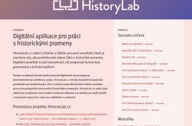 Aplikace HistoryLab