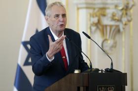 Miloš Zeman během oslav 70. výročí založení Izraele