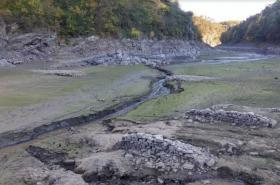 Vyschlá Vranovská přehrada