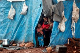 Uprchlický tábor Kelbit v provincii Idlíb