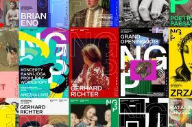 Vítězný návrh na novou vizuální identitu Národní galerie v Praze