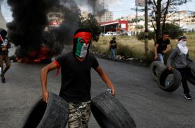 Demonstrace Palestinců v den nakby