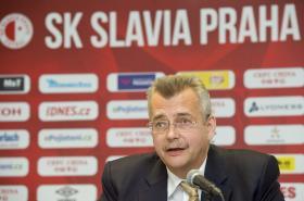 Jaroslav Tvrdík coby předseda představenstva SK Slavia Praha.