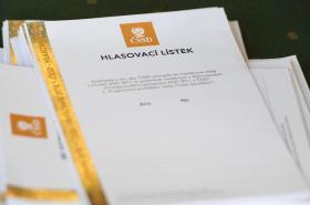 Hlasovací lístek ČSSD