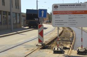 Opravy silnic v Brně