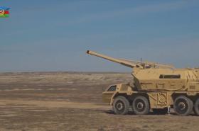 Houfnice DANA na videu ázerbajdžánské armády