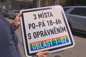 Označení míst pro rezidentní parkování