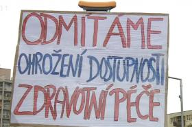 Demonstrace v Orlové