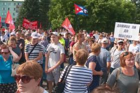 Protest proti penzijní reformě v Rusku
