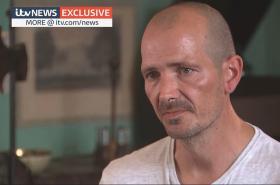 Charlie Rowley během rozhovoru pro ITV News