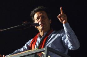 Imran Chán lídr a kandidát Hnutí za spravedlnost