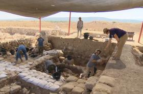 Čeští odborníci na vykopávkách v Izraeli