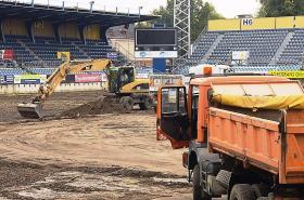 Kvůli postupu opavského fotbalového klubu do nejvyšší soutěže musí město investovat na stadionu do vyhřívaného trávníku