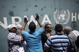 Protesty proti škrtům v Pásmu Gazy