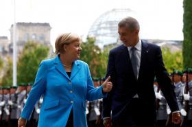 Angela Merkelová a Andrej Babiš v Berlíně
