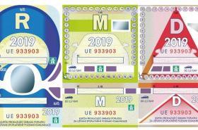Podoba dálničních známek pro rok 2019