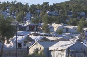 Uprchlické ubytovny na ostrově Lesbos