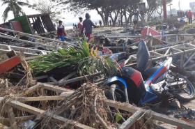 Následky řádění tsunami v indonéském městě Palu