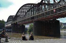 Železniční most v Praze