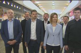 Zástupci nově vznikající koalice v Brně