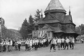 Podkarpatské městečko Buština ve 30. letech