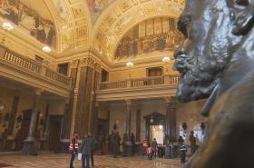 Opravy pantheonu Národního muzea se blíží do finiše