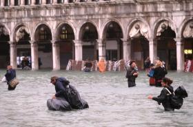 Velká voda v Benátkách
