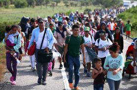 Karavana migrantů v Mexiku