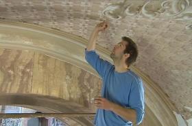 Oprava fresek v kostele v Štípě