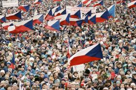 Manifestace na Letné v listopadu 1989