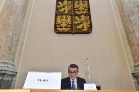 Premiér Andrej Babiš (ANO) na jednání tripartity
