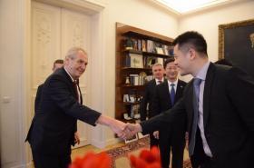 Prezident Miloš Zeman přijal čínskou delegaci