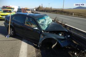 Nehoda po jízdě v protisměru