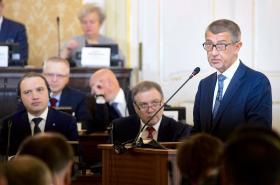 Andrej Babiš na konferenci k výstavbě nových jaderných bloků v ČR