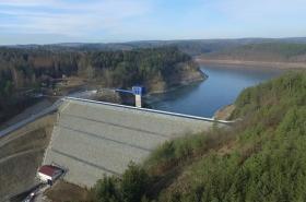 Opatovické přehrada po rekonstrukci
