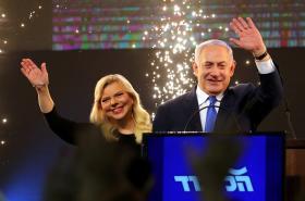 Benjamin Netanjahu slaví volební vítězství
