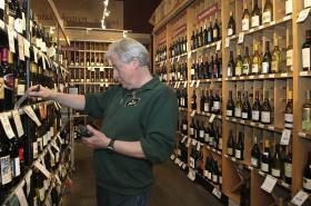 Prodejna vína v USA