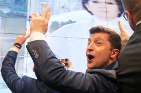 Volodymyr Zelenskyj po zveřejnění prvních odhadů výsledků voleb