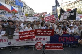 Demonstrace na Václavském náměstí