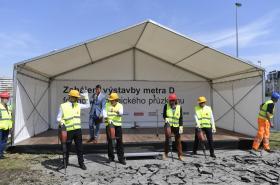 Zahájení geologického průzkumu pro stavbu metra D