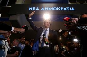 Šéf Nové demokracie Kyriakos Mitsotakis