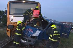 Nehoda na železničním přejezdu ve Strážnici
