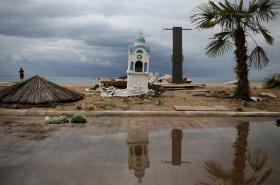 Následky noční bouře v Řecku