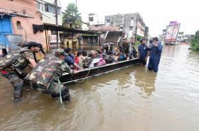 Záplavy v indickém městě Sangli