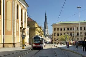Tramvajová trať přes centrum Olomouce