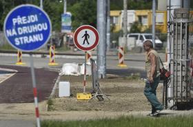 Práce ve Výškovické ulici v Ostravě