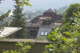 Krejčířova vila po požáru