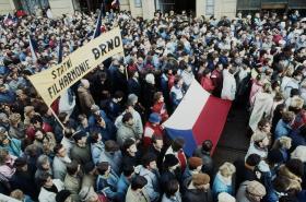Generální stávka na náměstí Svobody